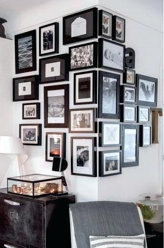 un mur de cadres les r gles observer d co et des couleurs. Black Bedroom Furniture Sets. Home Design Ideas
