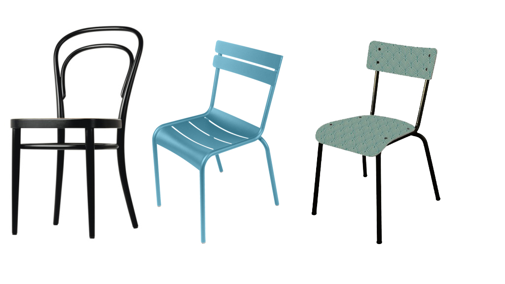 une chaise, 3 styles !
