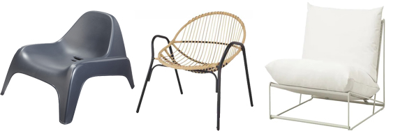 sélection fauteuils outdoor