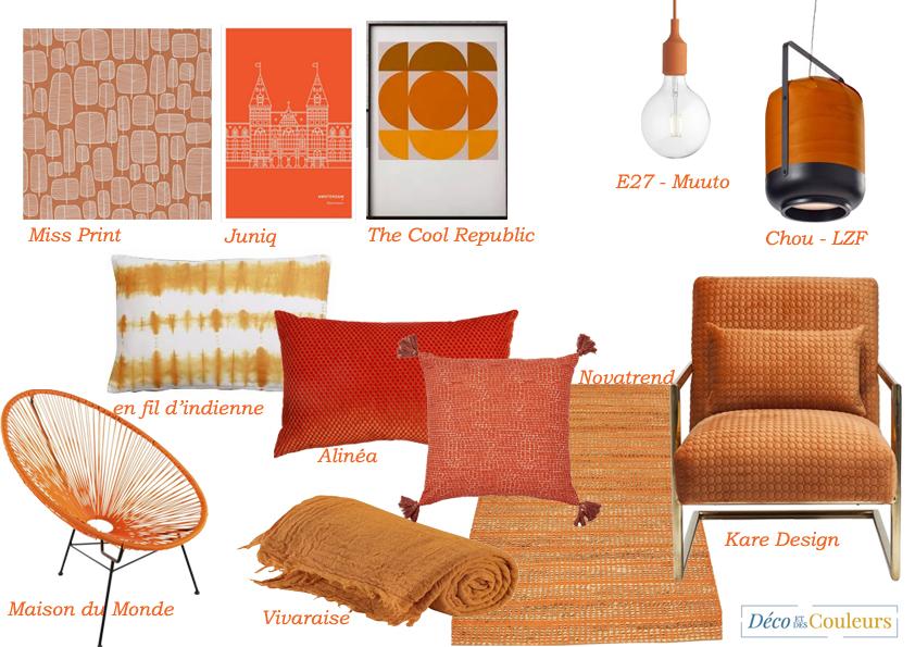 planche tendance orange
