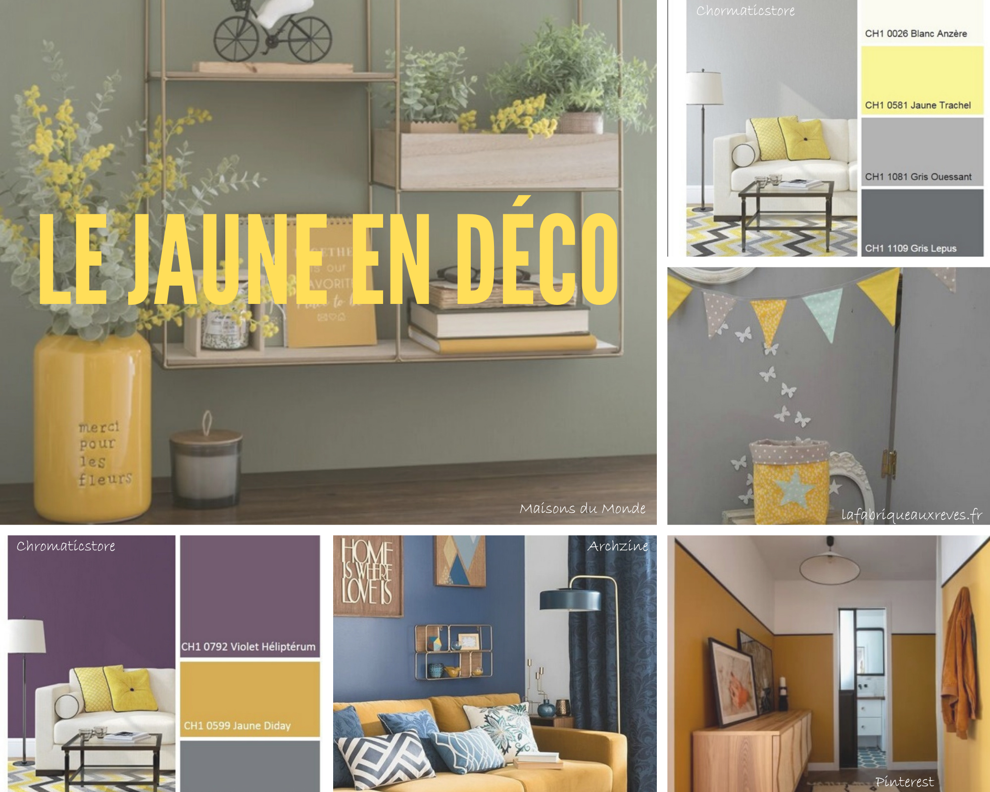 le jaune en décoration intérieure