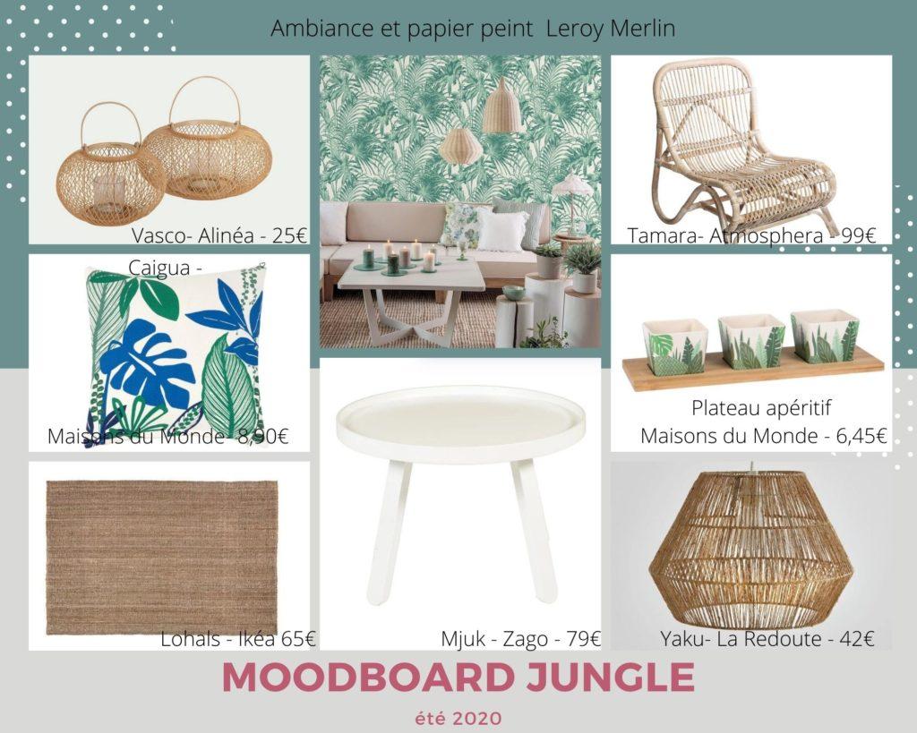 Moodboard Jungle pour voyager sans bouger!