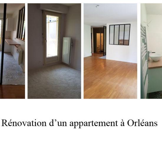 rénovation d'un appartement à Orléans